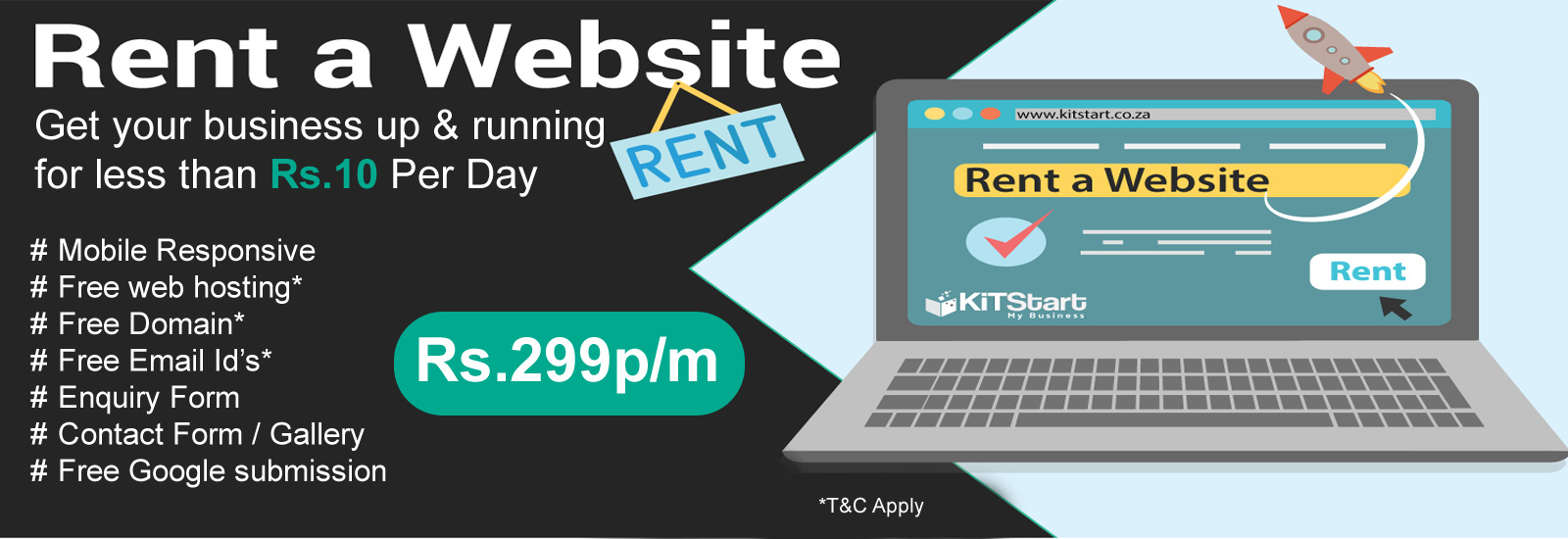 Website on Rent company in delhi